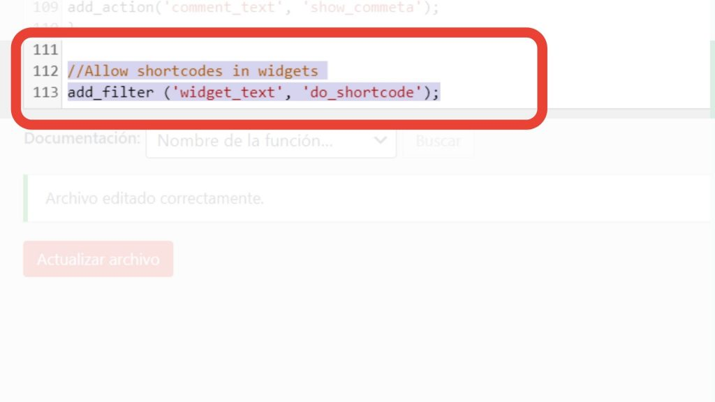 habilitar shortcode wordpress